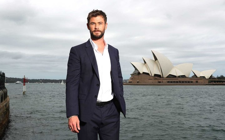 Actor Chris Hemsworth in Sydney Australia