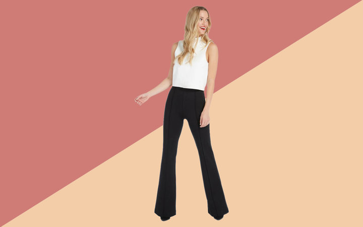 Spanx Perfect Black Pant in Hi-Rise Flare