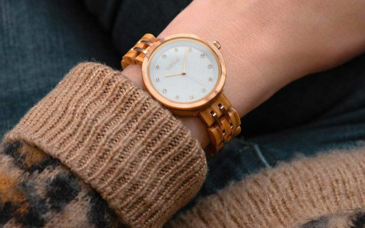 TruWood Queen Quartz Wooden Watch with Olivewood for Women