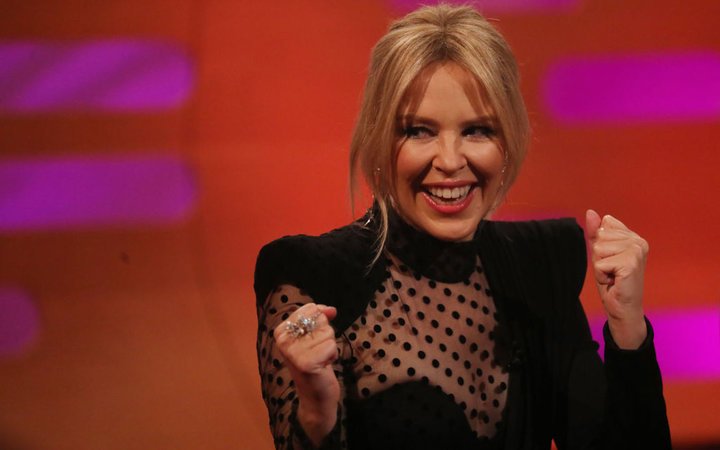 Kylie Minogue during the filming for the Graham Norton Show at BBC Studioworks 6 Television Centre