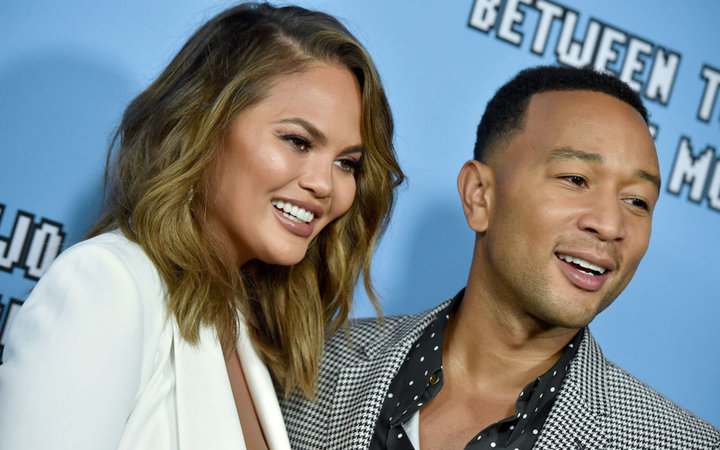 Chrissy Teigen and John Legend attend the LA Premiere of Netflix's  Between Two Ferns: The Movie  at ArcLight Hollywood on September 16, 2019 in Hollywood, California.