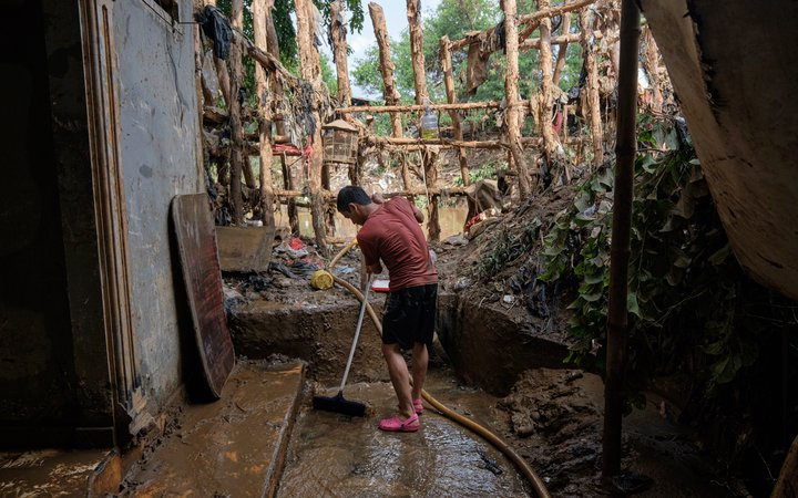 Flood damage in Indonesia