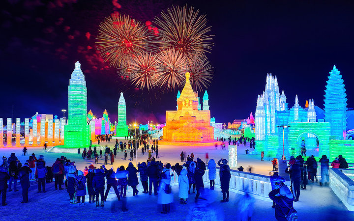 Harbin International Ice Festival Castle