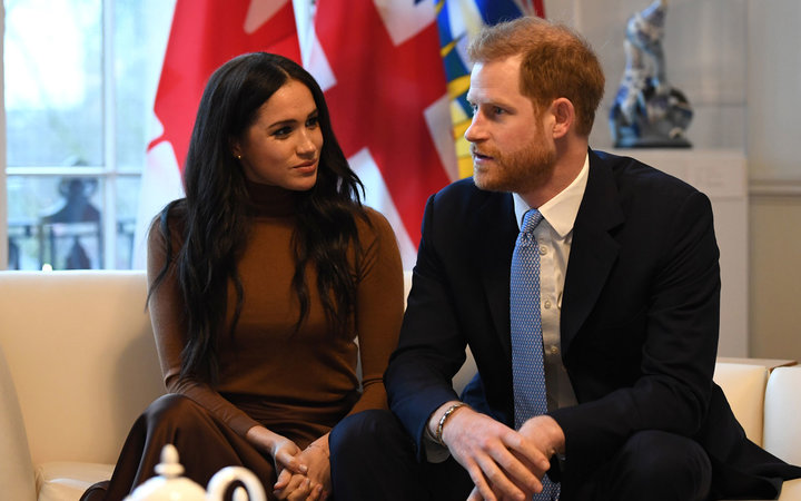 Meghan Markle and Prince Harry at Canada House in London