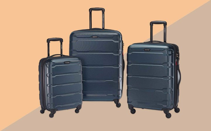 Dark Blue Hardside 3-piece Luggage Set