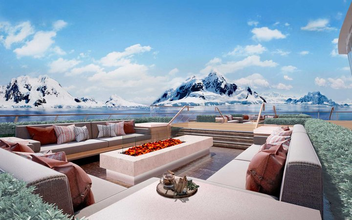 Viking Cruises Expedition Ship terrace deck