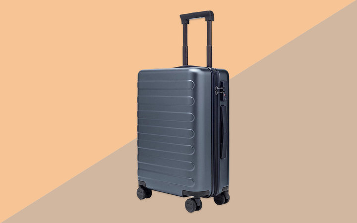 Grey Hardside Carry-on Suitcase