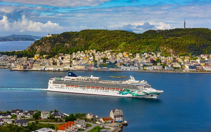 Norwegian Cruise Line Jade ship in Norway