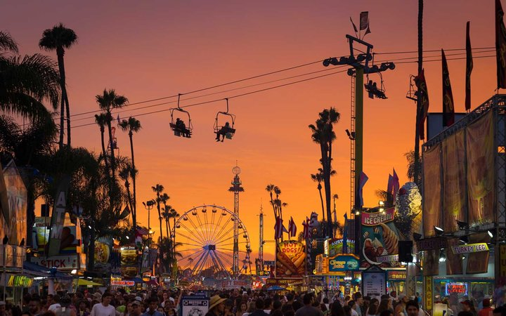 San Diego County Fair during sunset