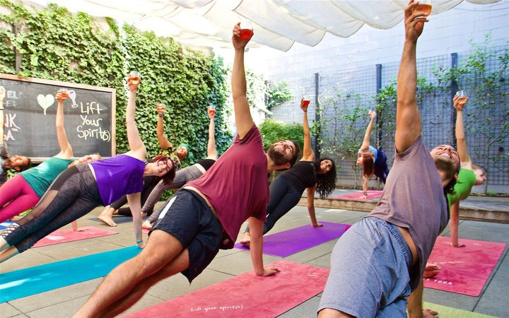 Yoga with wine at Haven Riviera Resort in Cancun
