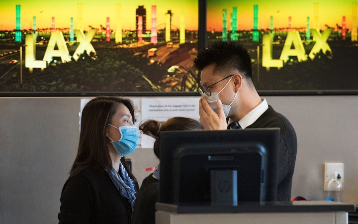 Employees at LAX