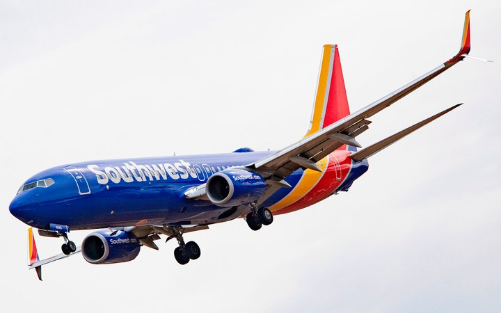 Southwest Airlines Boeing 737 800 plane