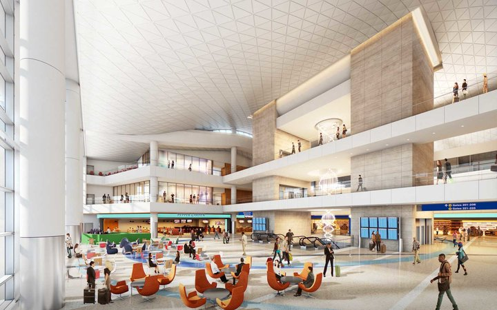 LAX Airport Midfield Satellite Concourse rendering