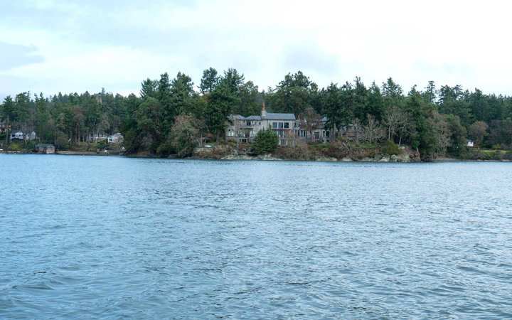 The residence of Prince Harry and and his wife Meghan is seen in Deep Cove Neighborhood  from a boat on the Saanich Inlet, North Saanich, British Columbia on January 21, 2020.