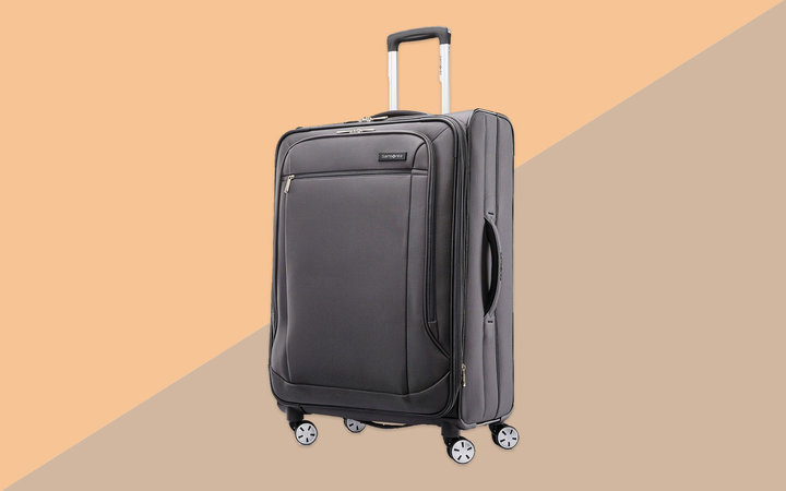 Grey Medium Softside Suitcase