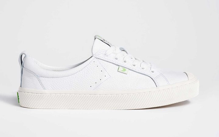 Oca low white leather sneaker, completely sustainable
