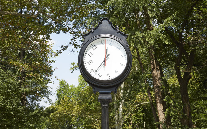 Central Park clock instillation