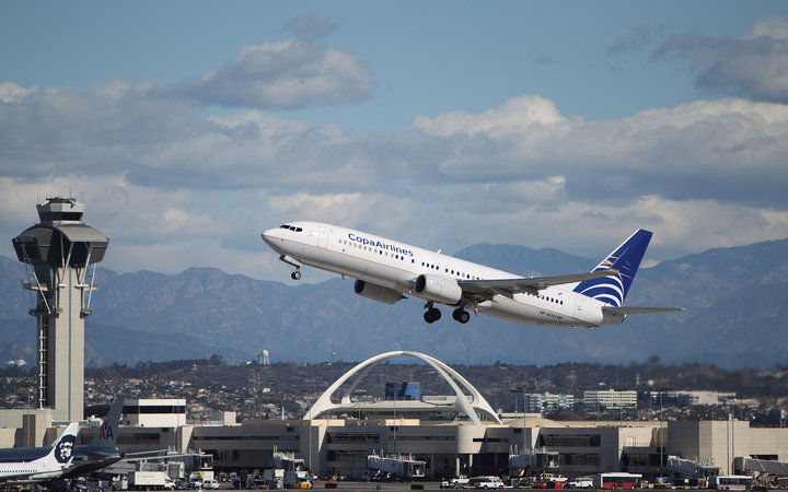 Copa Airlines plane flying