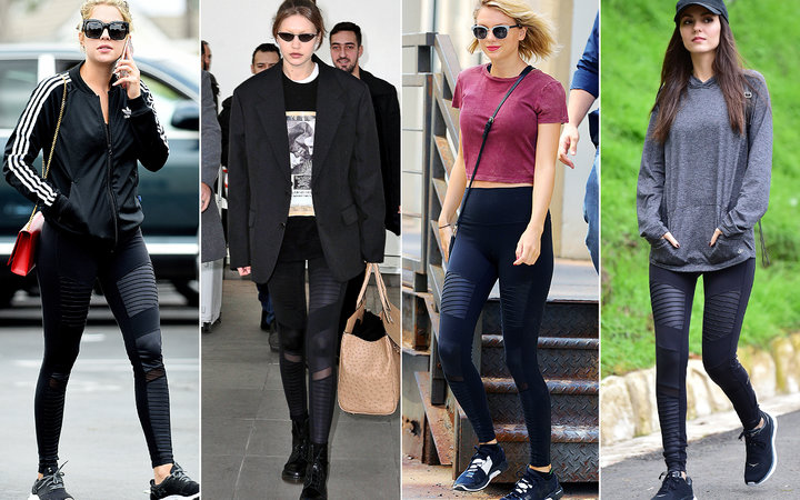 Shopping: Taylor Swift, Hailey Bieber, and Tons of Other Celebs' Favorite Leggings Are on Sale...