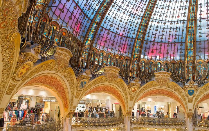 Galeries Lafayette department store in Paris, France