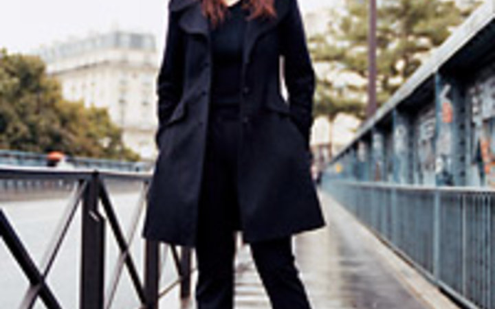 Rebecca Lewis Keren Ann on the streets of Montmartre.