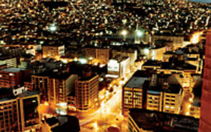 Alistair Taylor-Young Downtown Izmir, Turkey at night.