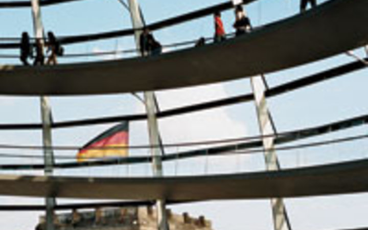 Micha Richter Inside Norman Foster's glass-and-steel Reichstag dome.