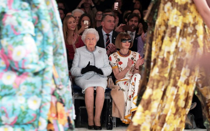 Queen Elizabeth II at London Fashion Week