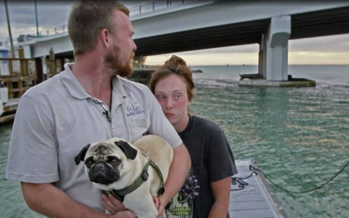 Colorado couple's boat sinks after two days at sea.