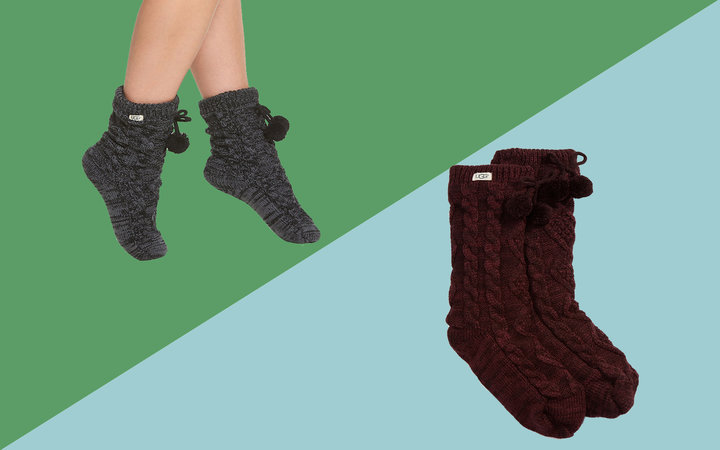 UGG Pom Pom Fleece Lined Socks