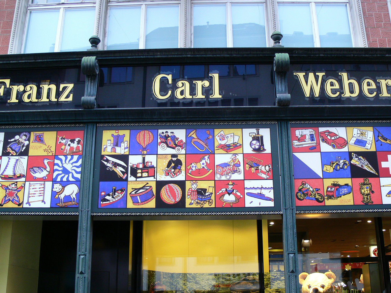 Franz Carl Weber Toy Shop in Zurich