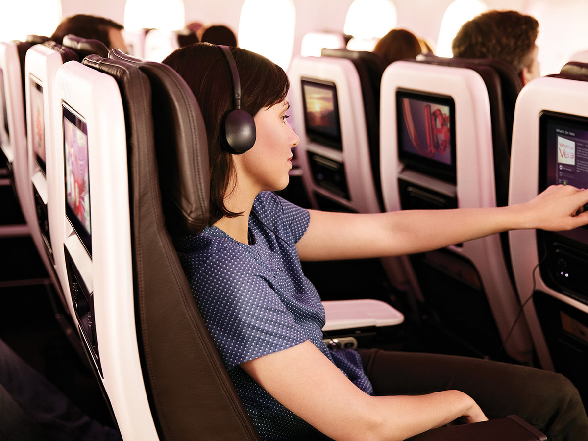 Virgin Atlantic premium economy entertainment