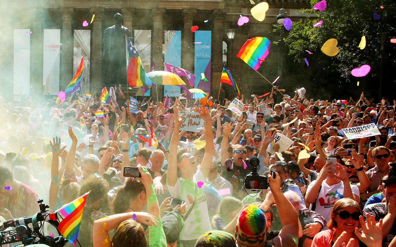 Australians Gather To Hear Result Of Marriage Equality Survey