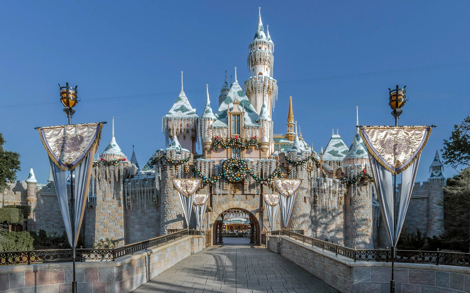 Sleeping Beauty Winter Castle during the Holidays