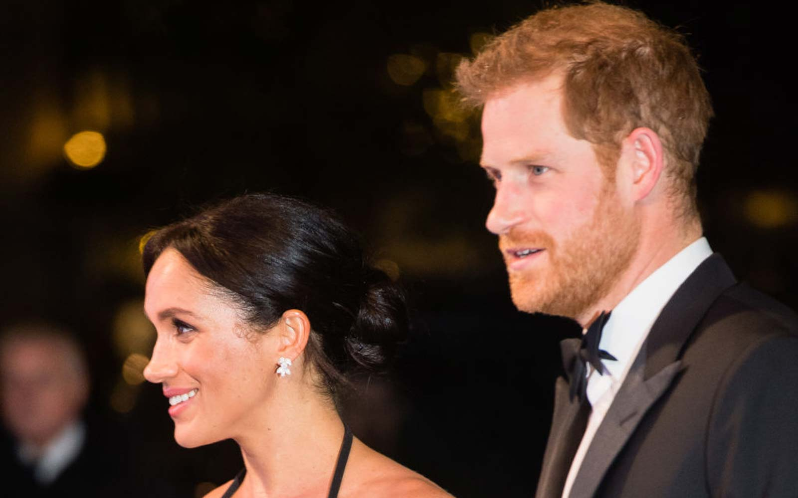 Meghan, Duchess of Sussex and Prince Harry, Duke of Sussex arrive at The Royal Variety Performance 2018 at London Palladium