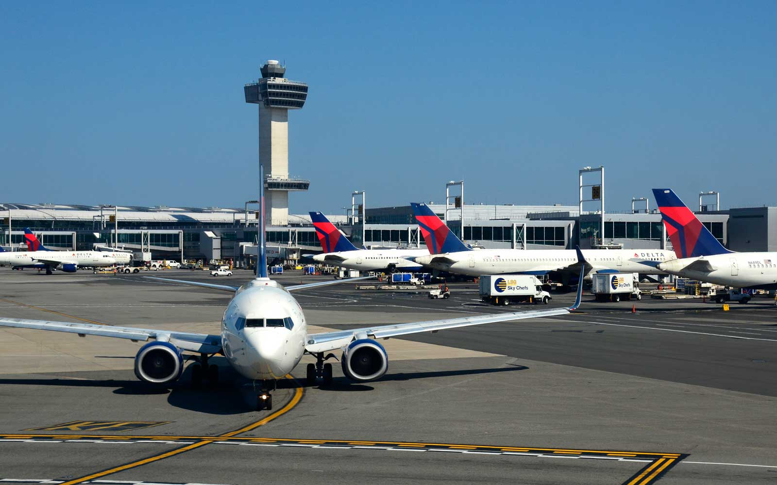 Delta Airlines at JFK Airport, New York