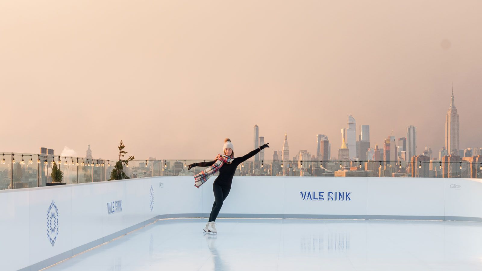 Ice Skater at The William Vale Hotel Rooftop Ice Skating Rink