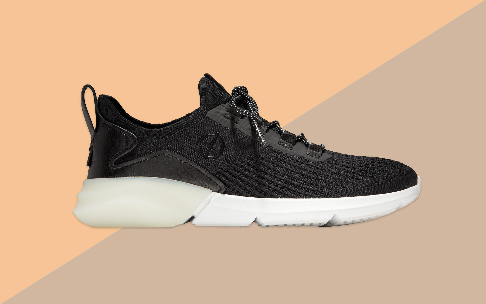 Women's Black and White Running Shoes