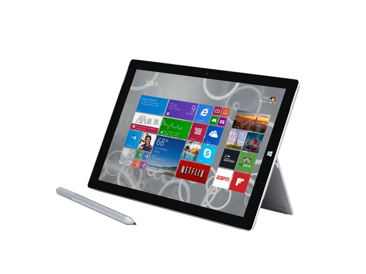 Microsoft Surface 3 travel tablet