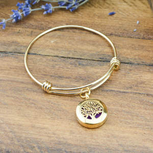 Tree of Life Diffuser Bangle