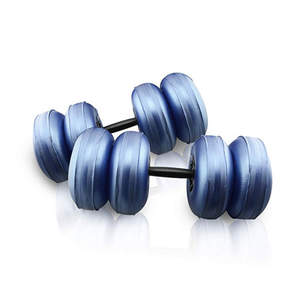 DEIRIS Adjustable Travel Water Filled Dumbbells Weight Set