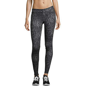 Hanes Sport Performance Leggings Geo Drift Gray