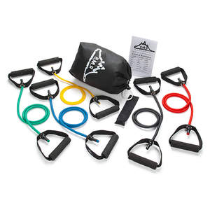Black Mountain Products 5-Piece Resistance Band Set - Contemporary
