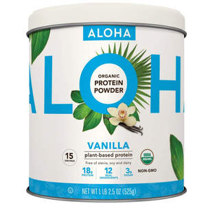 ALOHA Organic Vanilla Plant-Based Keto Friendly Protein Powder