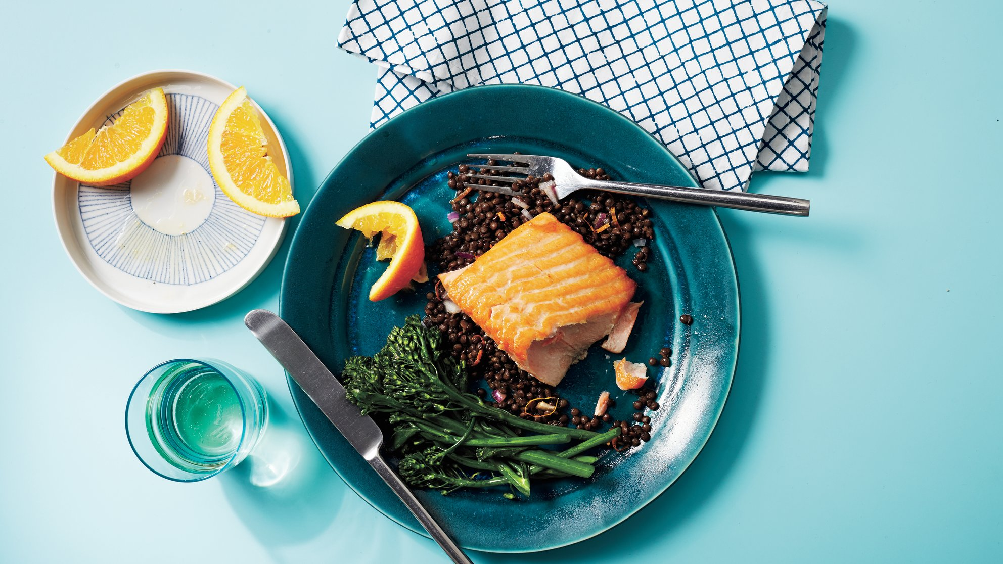 seared-salmon-orange-lentil-salad