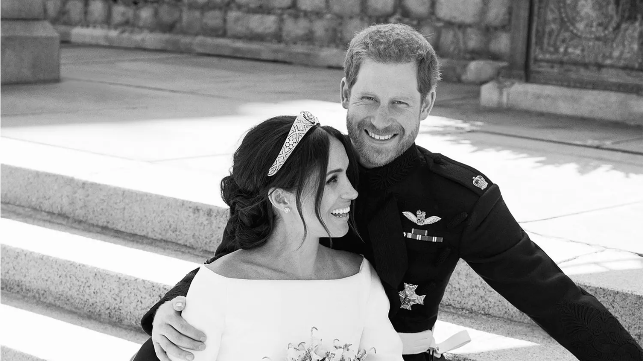 Meghan and Harry Wedding Portraits