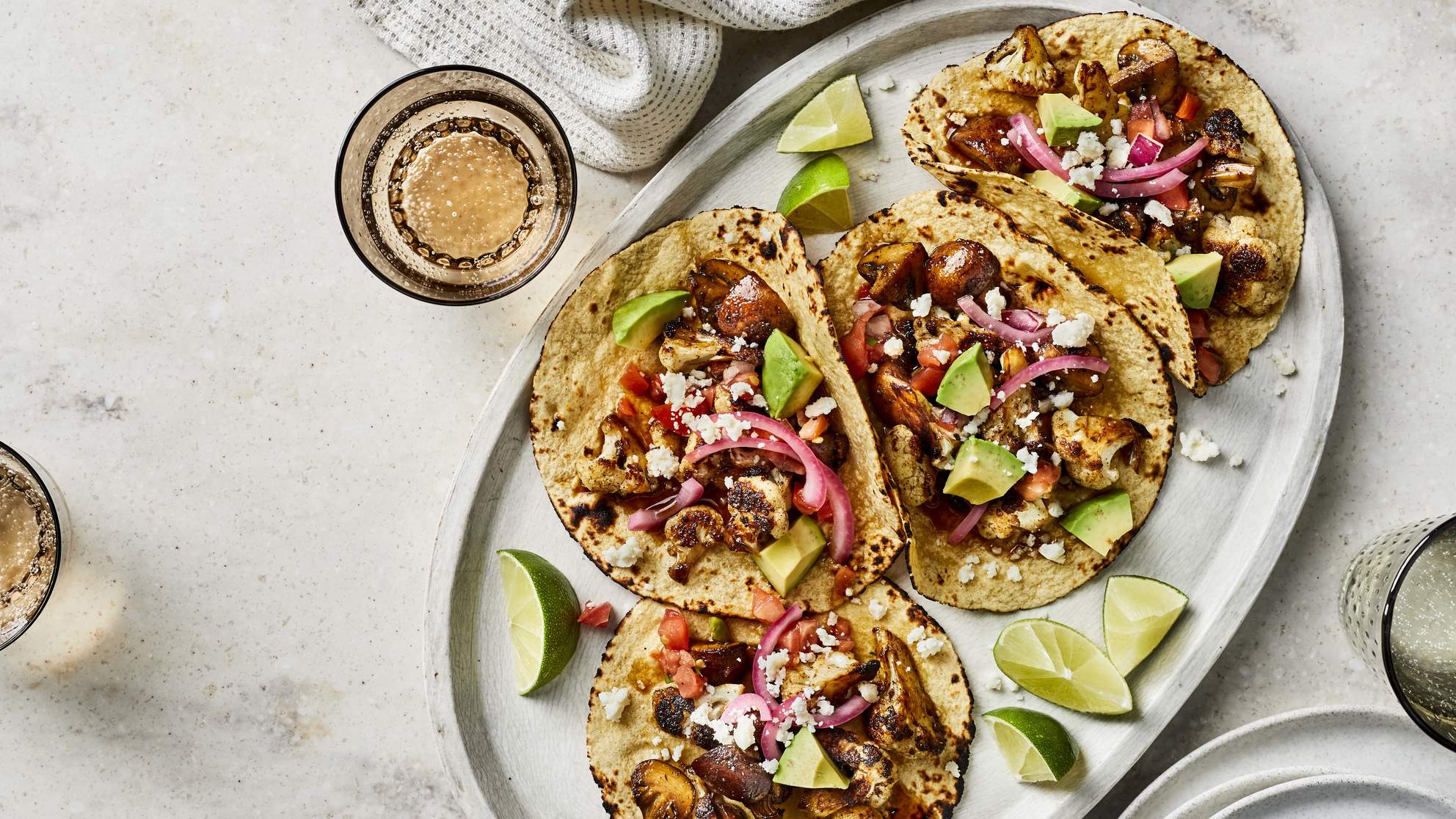 mushroom-tacos-cauliflower-recipes-health-mag-january-feb-2020