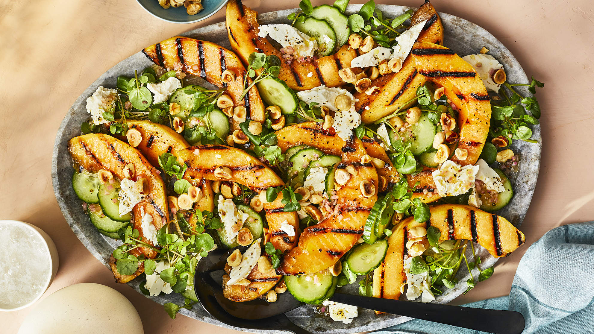 Grilled Cantaloupe Salad with Feta