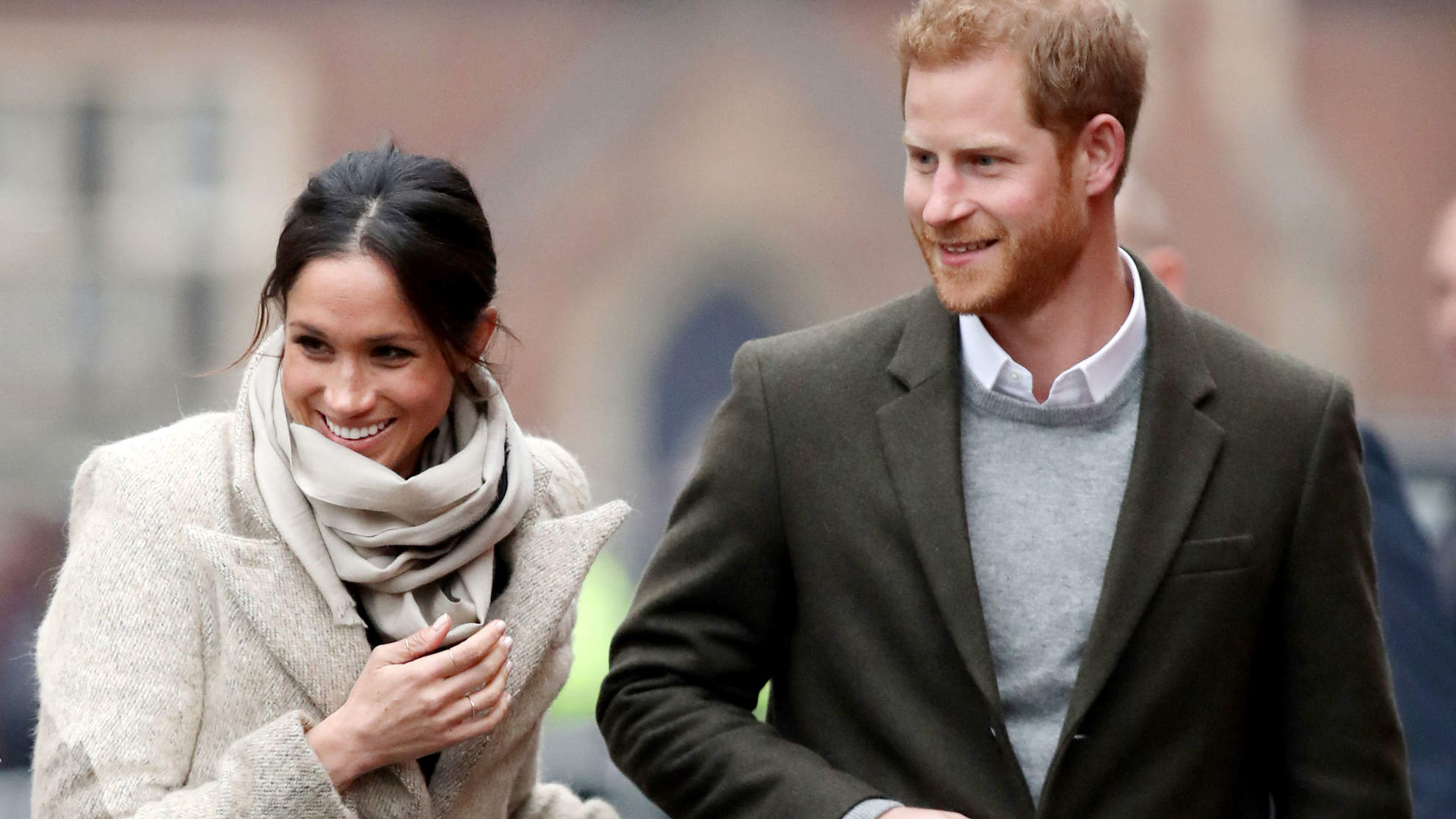 Prince Harry and Meghan Markle Make Their First 2018 Appearance in the Coziest Neutrals