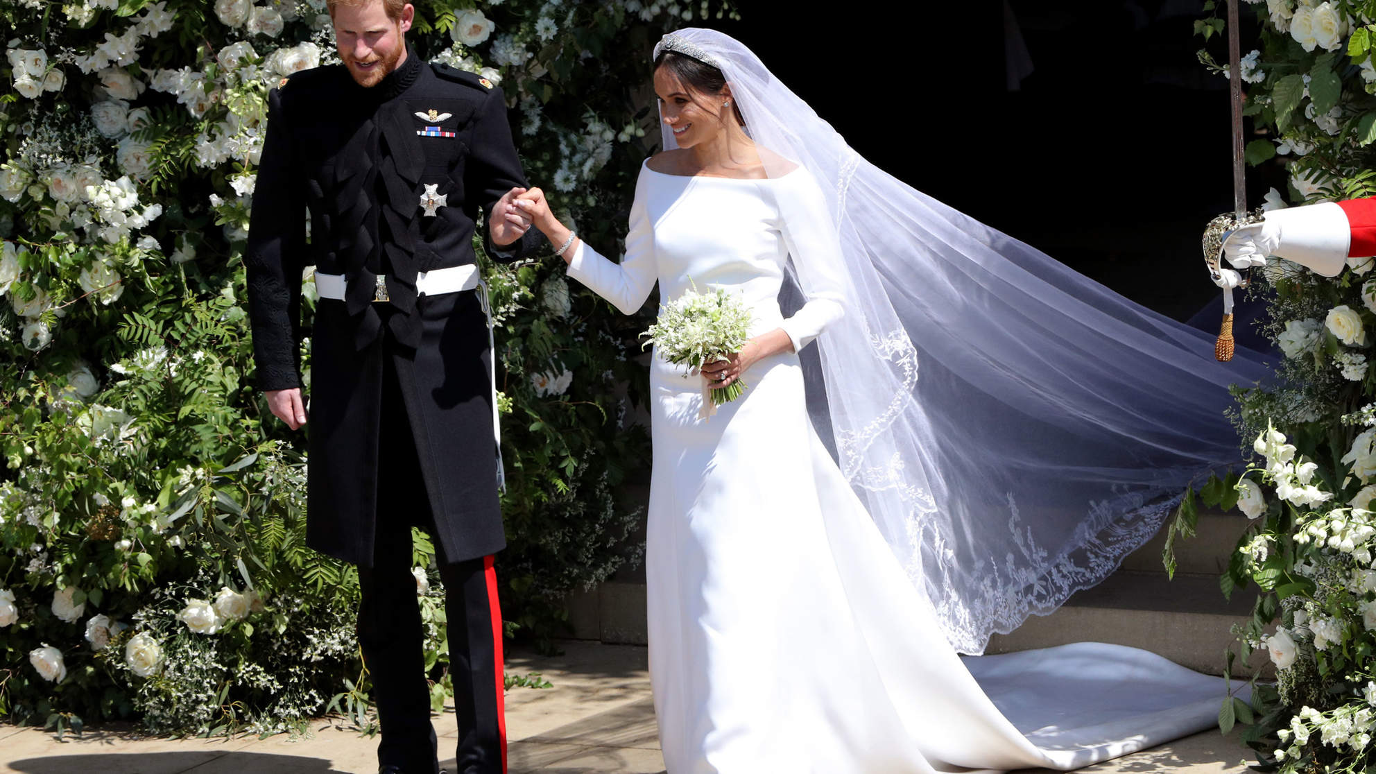 See Meghan Markle's Wedding Dress from Every Angle